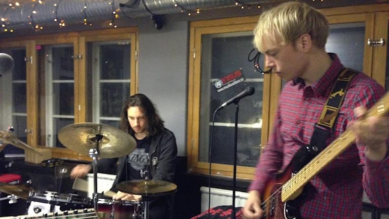 David Runebjörk, Albert Björliden, Les Gordons, trummor, replokal, band, musik