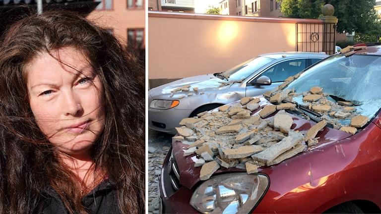Zenita Lundström med bil kraschad