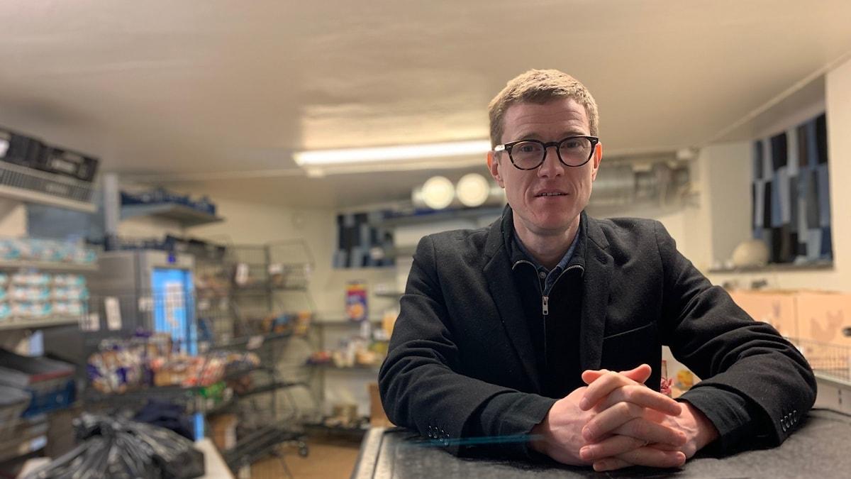 Fredrik Karlsson verksamhetsansvarig på Stadsmissionen