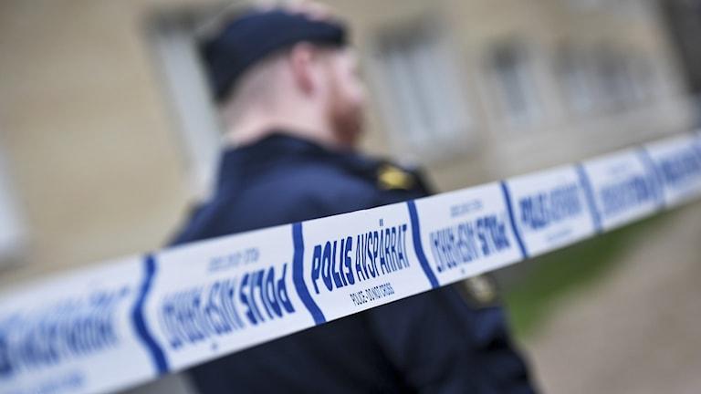 Polis, rån, avspärrning