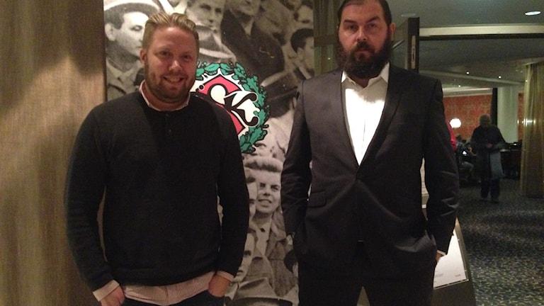 Erik Wärlegård och Alexander Axén ÖSK