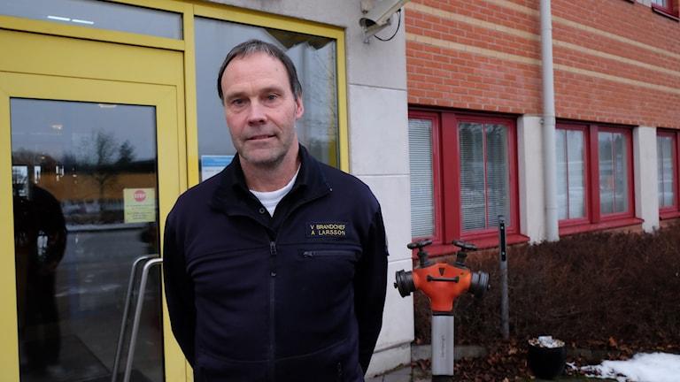 Anders Larsson, vice brandchef, Nerikes brandkår.