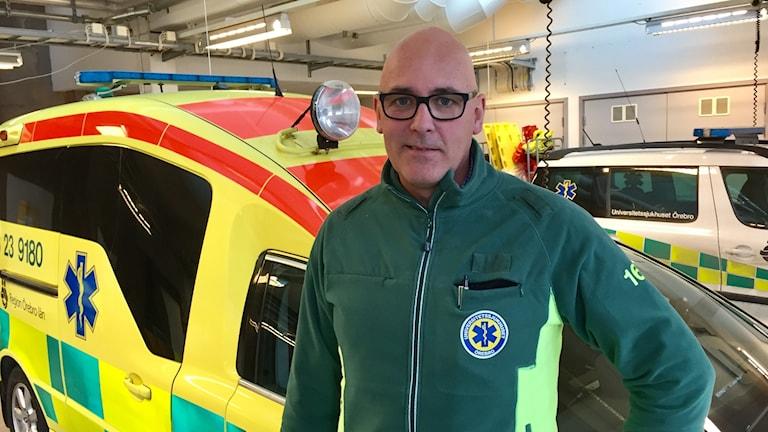 Tomas Elisson, tillförordnad ambulanschef