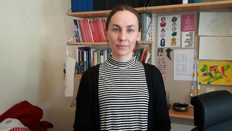 Sofia Bergbom, universitetslektor för psykologprogrammet.