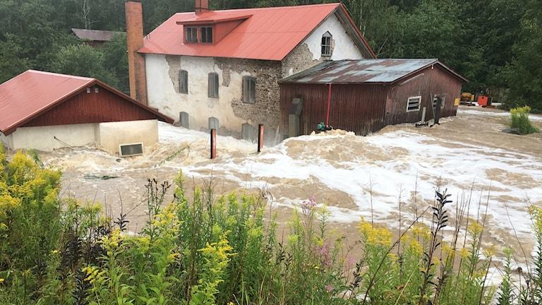översvämning karlskoga damm