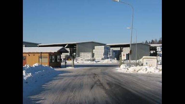 Entrégrinden vid Moelven Valåsen i Karlskoga. Foto:Mattias Rensmo/SR Örebro