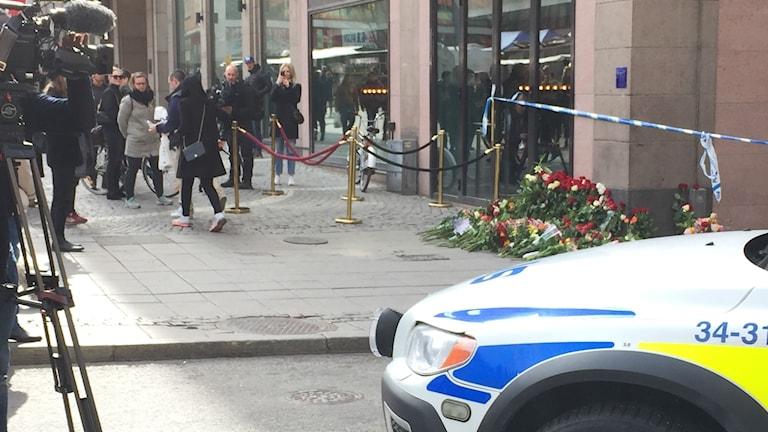Högen av blommor växer i Stockholm.