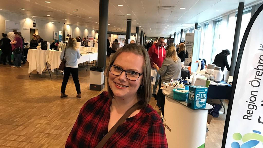 Undersköterskan Louise Borg var en av de som deltog i konferensen i Örebro.