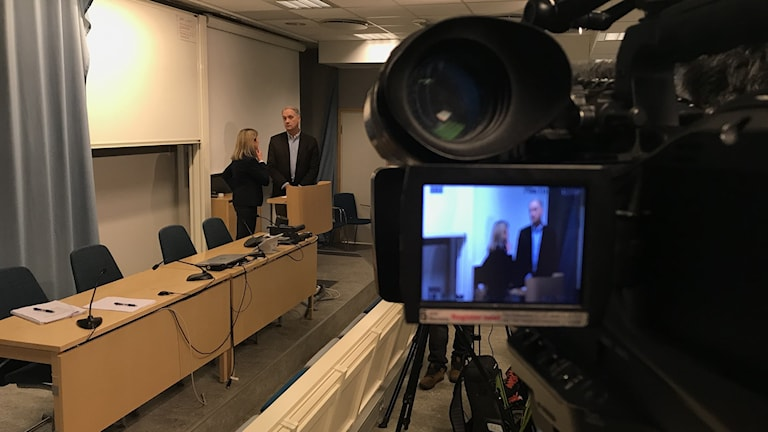 Åklagare Åsa Hiding i polishuset.