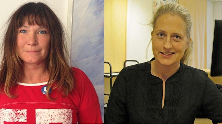 Karolina Wallström (L) och Jessica Ekerbring (S)