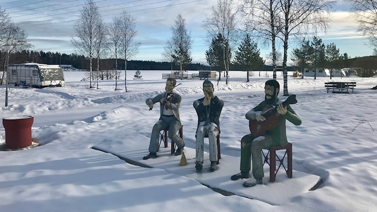 Spelmän på Silverhöjdens camping.