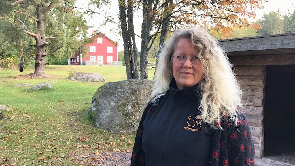 Ann-Sofi Eliasson jobbar med bland annat Sixtorps friluftsgård.