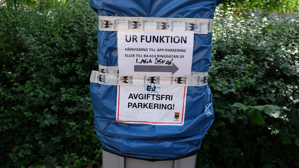 Trasig parkeringsautomat