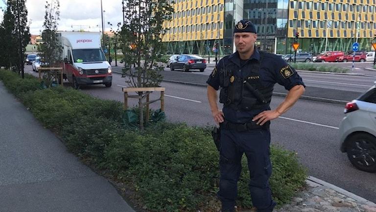 polis i stadsmiljö