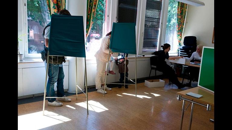 I flera vallokaler gjordes det fel under EU-valet. Foto: Bertil Ericson / Scanpix