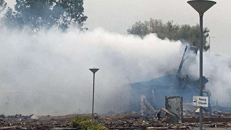 Brand moské Vivalla Örebro