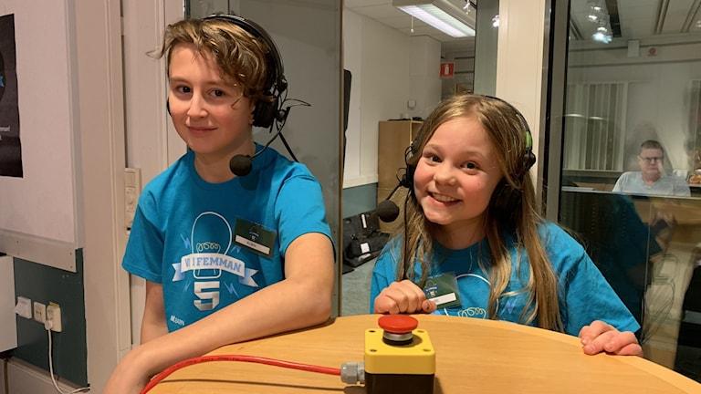 Albin och Siri, Lillåns södra skola, tog hem semifinalen i Vi i femman