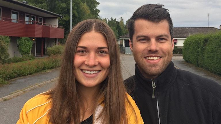 Eva Eriksson och Calle Wollgård, välgörenhetscyklister, Örebro.