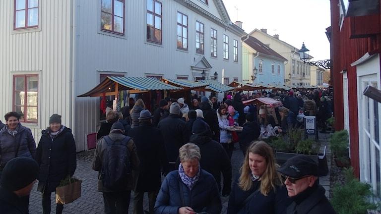 Julmarknad i Wadköping i Örebro.