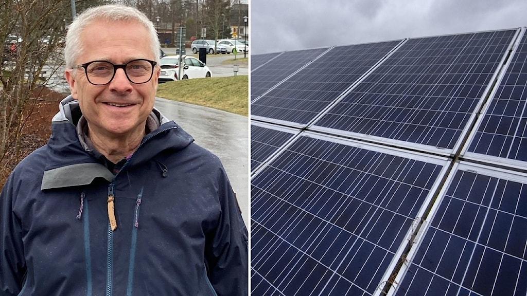 Bengt Storbacka, S Lindesberg samt bild av solpaneler.