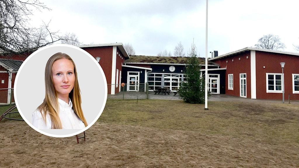 Amanda Zabielski, utredare på Skolinspektionen, om avslagna ansökan från Snavlunda skola.