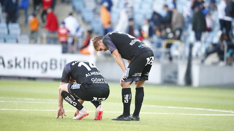 Örebrodepp efter 3-0-förlusten i lördagens fotbollsmatch i Allsvenskan mellan IFK Norrköping och Örebro SK på Östgötaporten.