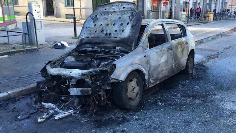 Bilbrand brand utbrunnen bil