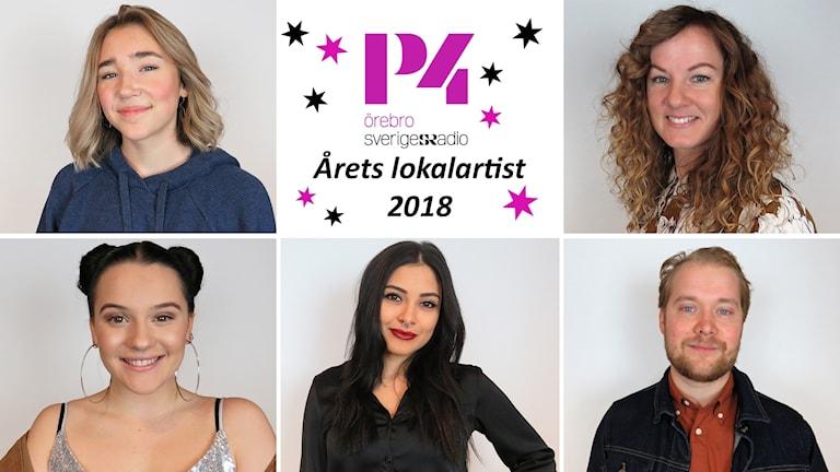 Deltagarna Julia Pietrzak Rådström, Stina Svensson, Sofia Vivere, Manon Lamartine och Emil Carlsson.