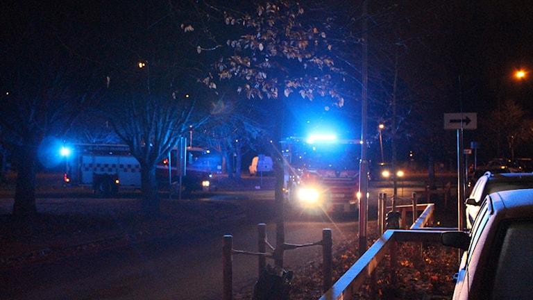 Lägenhetsbrand i Hallsberg.