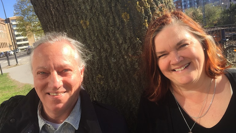 Augustprisvinnaren och författaren Maja Hagerman och filmaren Claes Gabrielsson.