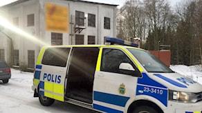 Polisinsats i Mossgruvan.