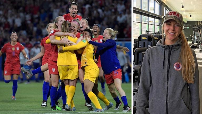 KIF Örebros Kayla Braffet  har spelat med ett par av spelarna i USA:s landslagstrupp.