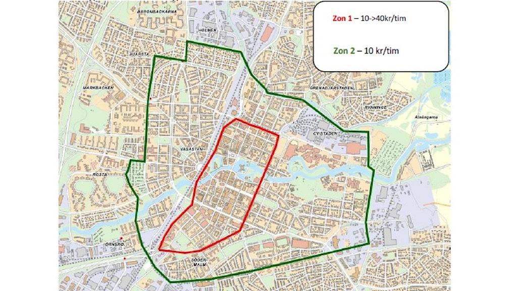 Nya parkeringszoner i Örebro.