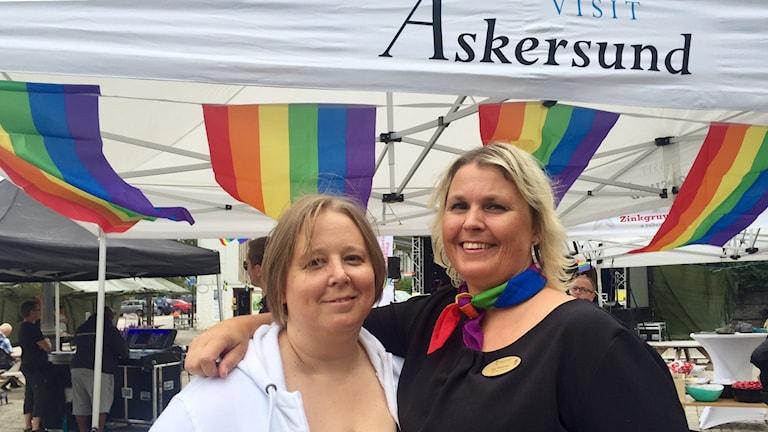Monika Andersson och Åsa Pitkänen har tillsammans planerat för Lakeside Pride i Askersund.