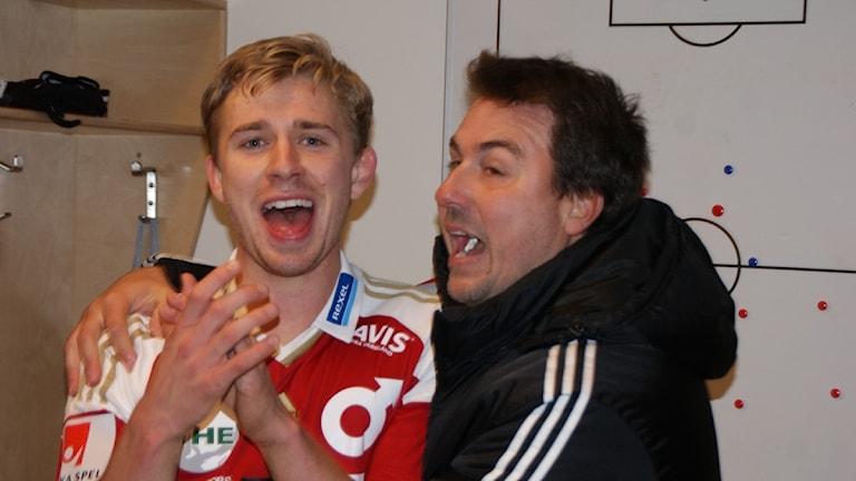Ludvig Fritzon och Stefan Jacobsson. Foto: Lasse Hellstrandh/Sveriges Radio