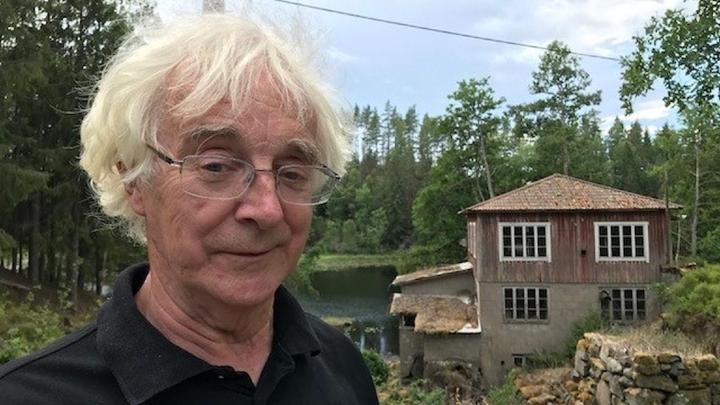 Göran Hartman vid Åboholms kvarn i Tiveden