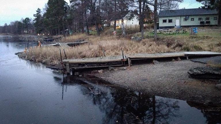 Vattennivån i sjöarna runt Svartå är synligt lägre än normalt.