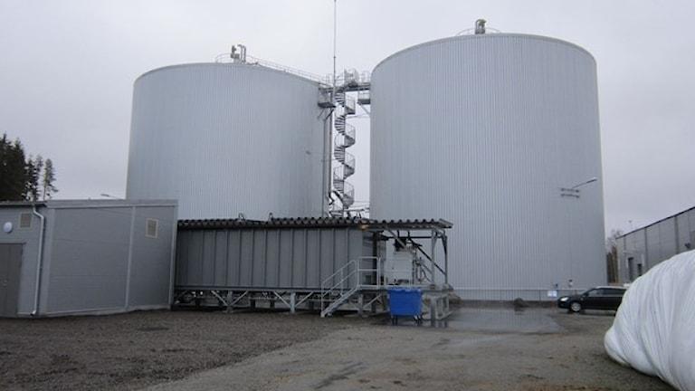 Biogasanläggningen i Karlskoga.
