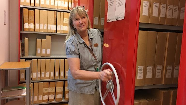 Ing-Marie Wiggh är arkivarie på Örebro kommuns statsarkiv