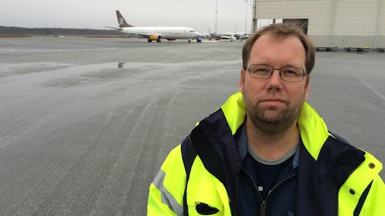 Mikael Smedberg, vd Örebro flygplats.