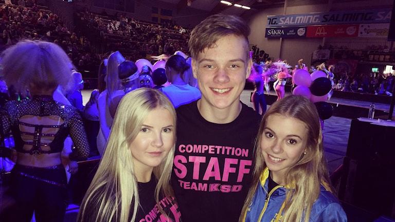 Lisa Häger Linus Vikander Tilda Axelsson tävlar i disco