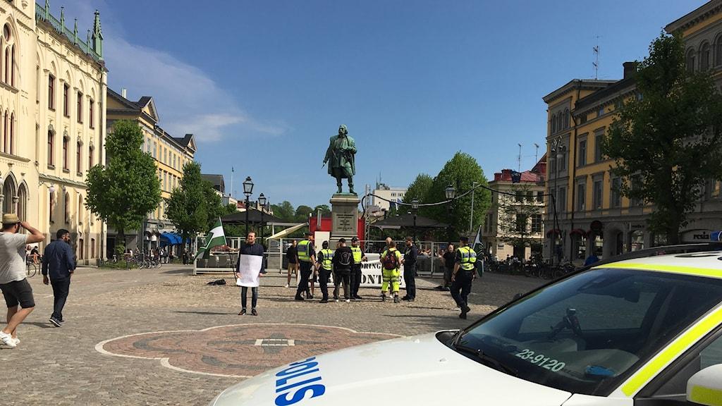 På lördagen genomförde Nordiska motståndsrörelsen en demonstration på Stortorget.