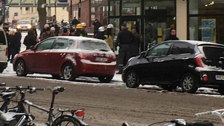 Okänt ämne skapade utryckning vid Forex i Örebro.
