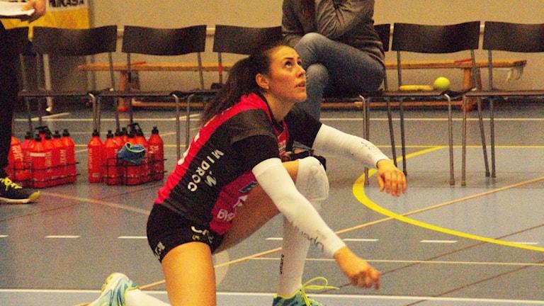 Diana Lundvall in action. Foto: Lasse Hellstrandh/Sveriges Radio