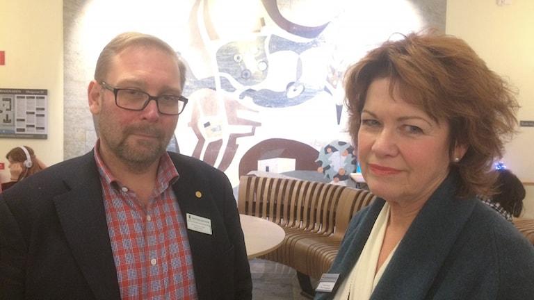 Jonas Bergman Wallin och Annika Kronwall, Skolledarna i Örebro. Foto: Marie Hansson/Sveriges Radio.