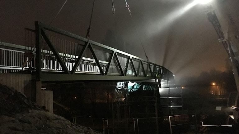 Bron över järnvägen i Hällefors.