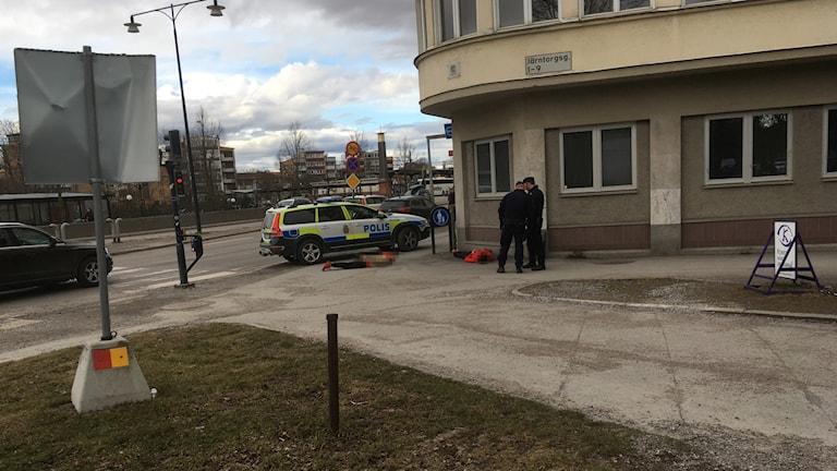 Polisen larmades om bråk i centrala Örebro.