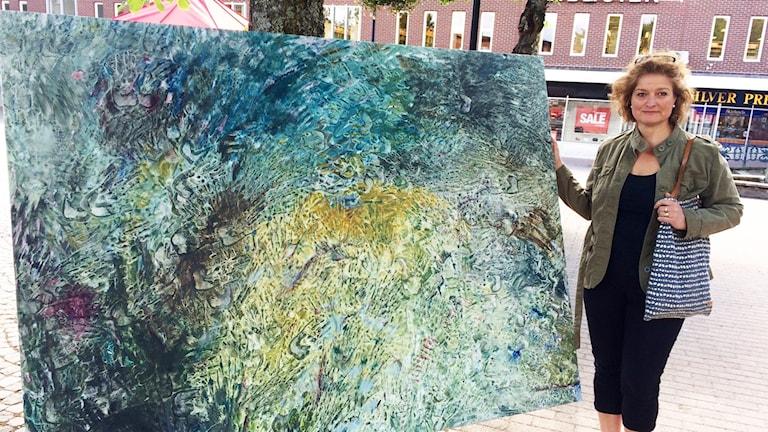 Konstverket Spår av Ulrika Andersson