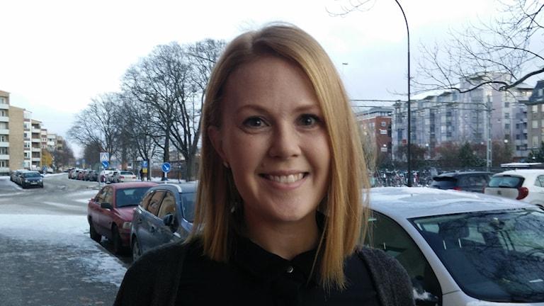 Mia Rosengren föreläser och bloggar om kvinnomisshandel.