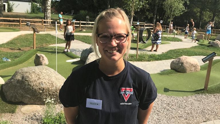 Felicia Särnö, aktivitetsvärd på Hästhagen.
